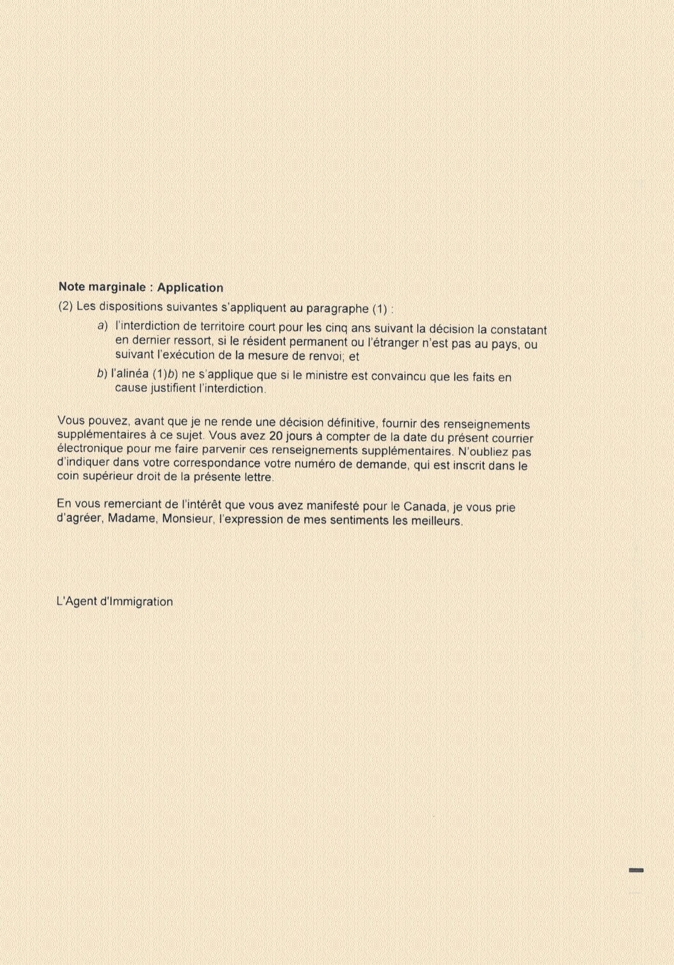 lettre explicative pour demande de visa