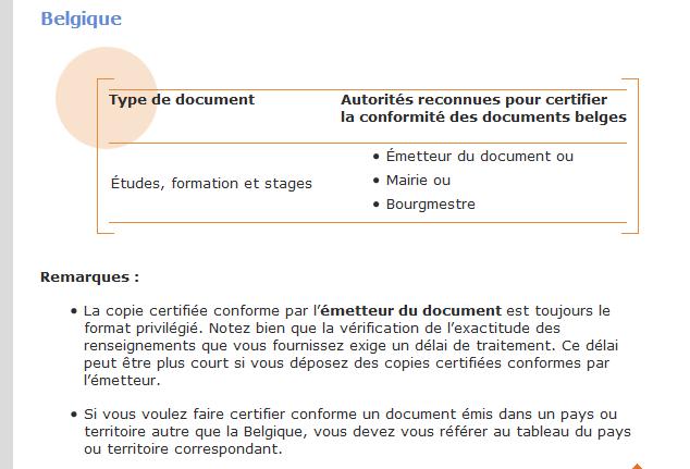 comment faire une copie certifi u00e9e conforme d u0026 39 un dipl u00f4me belge en  u00e9tant  u00e0 montr u00e9al