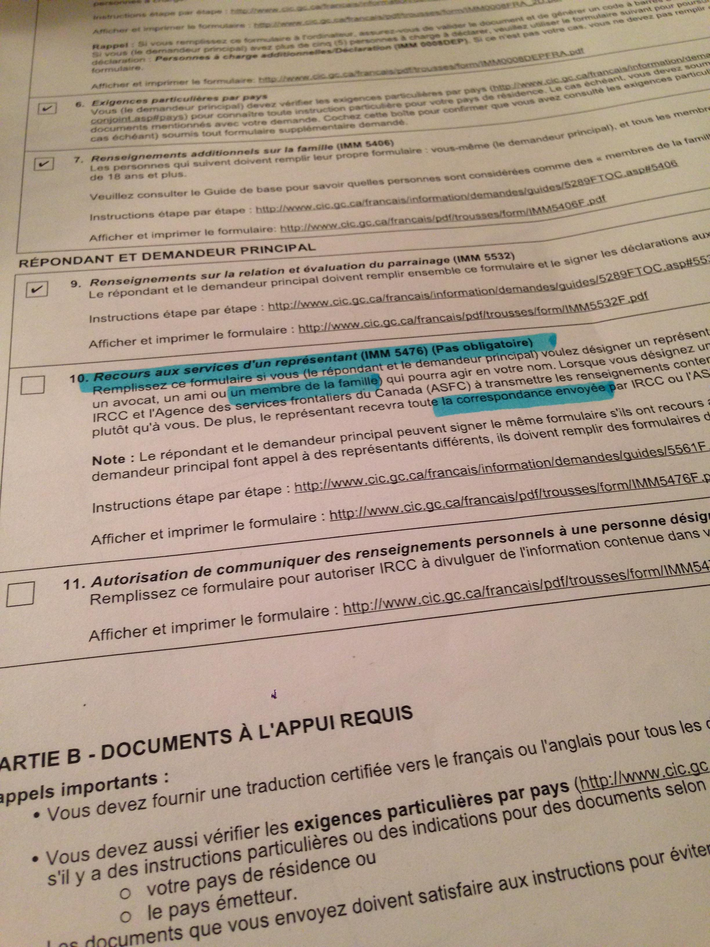 Parrainage nouvelle trousse 2017 page 10 parrainages for Parrainage epoux exterieur canada
